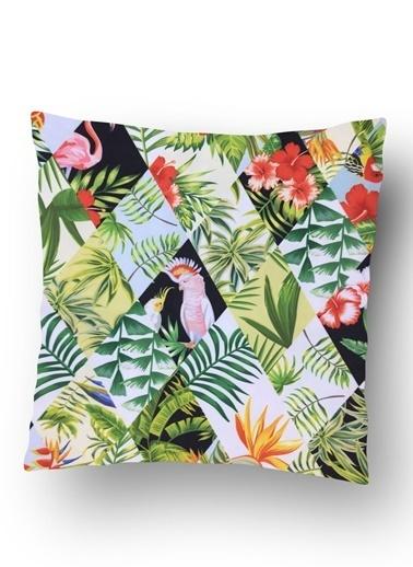 Lyn Home & Decor Kuşlar Ve Yapraklar Yastık Kılıfı Renkli